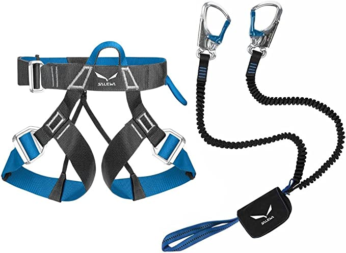 Salewa Set Escalada Vía Ferrata PREMIUM Attac y Ferrata Evo Arnés ...