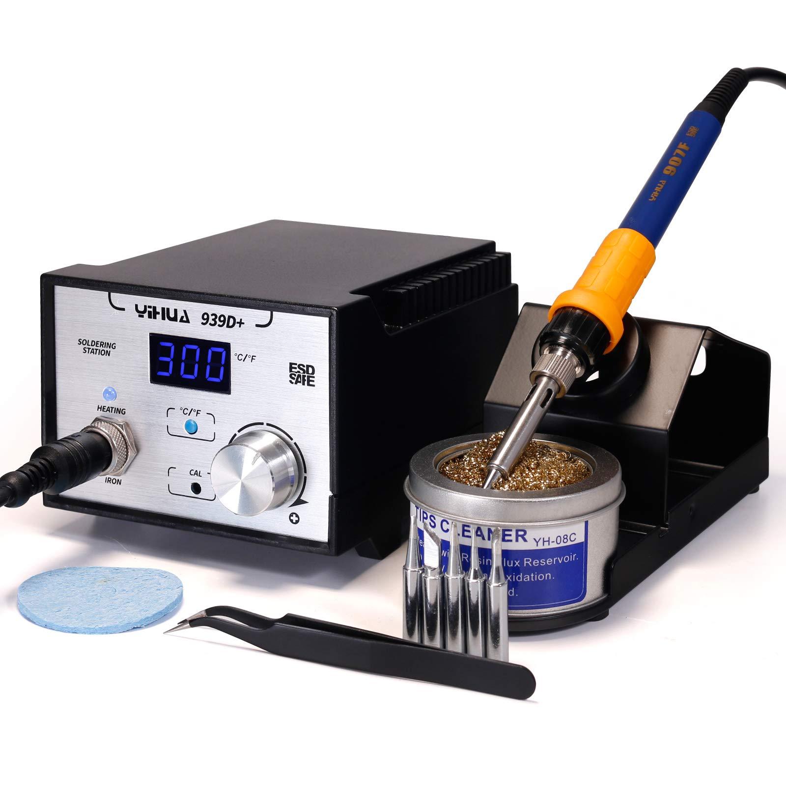 YIHUA 939D+ Professional 75W Digital Soldering Iron Station ESD SAFE Lead Free °F /°C