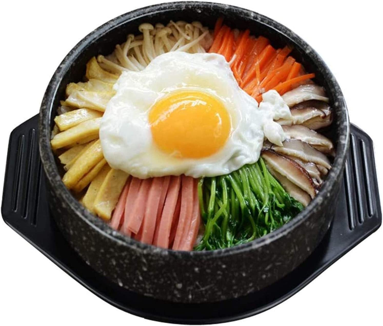 Clay Pot/Earthen Pot/Ceramic Cookware Korean Stone Bowl,Korean Cooking Pot,Donabe Rice Cooker,Hand-Crafted Speckled Ceramic Pot Casserole,Dolsot Bibimbap Bowl,Hot Pot for Cooking Dolsot Soup BDBT