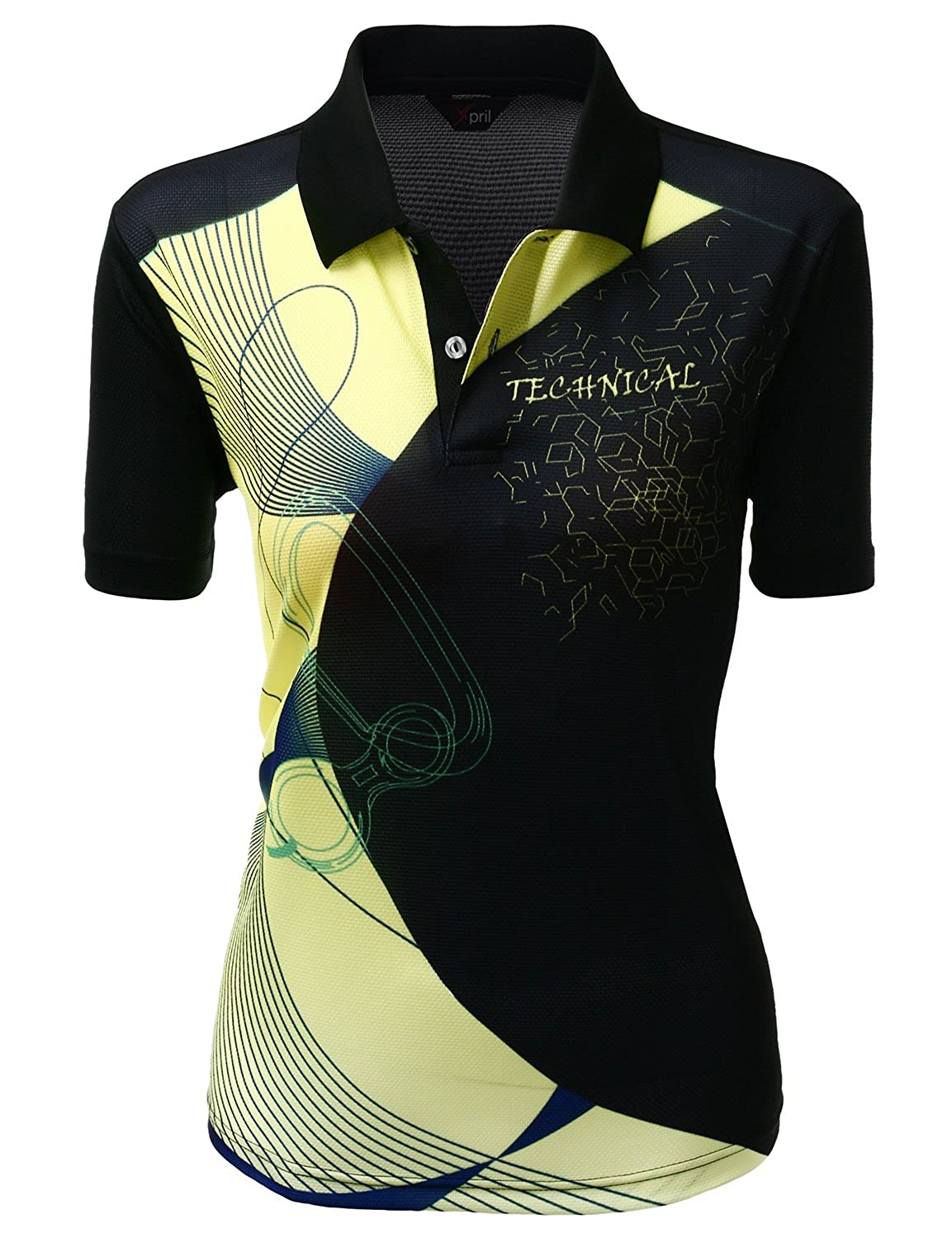 502f9c05c84 Cool Max Fabric Collar T-Shirt created with Cool and Sporty Print Design.  Functional Coolon Fabric is Light