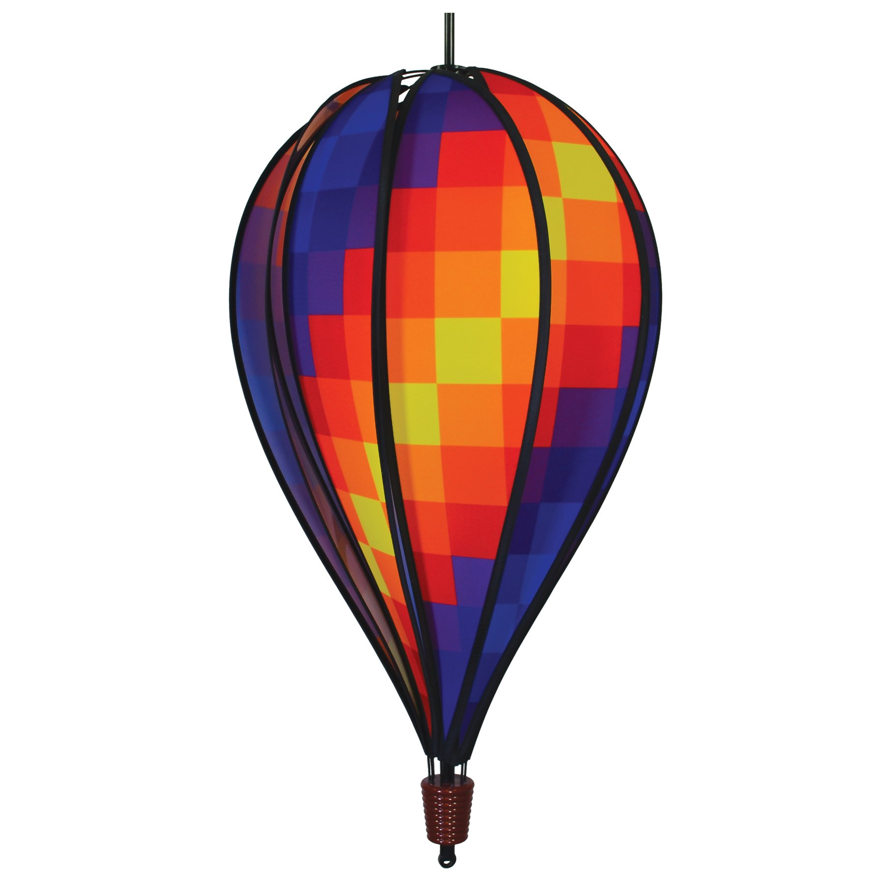 In the Breeze 0998 Rainbow Pixel Hot Air 10-Panel Hanging, Spinning Balloon Decoration, 25-Inches