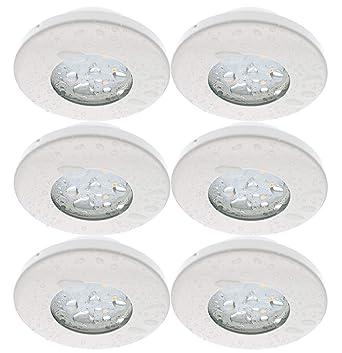 3 x LED Deckenspots Einbaustrahler Einbauleuchten Deckenlampe Downlight Set 230V