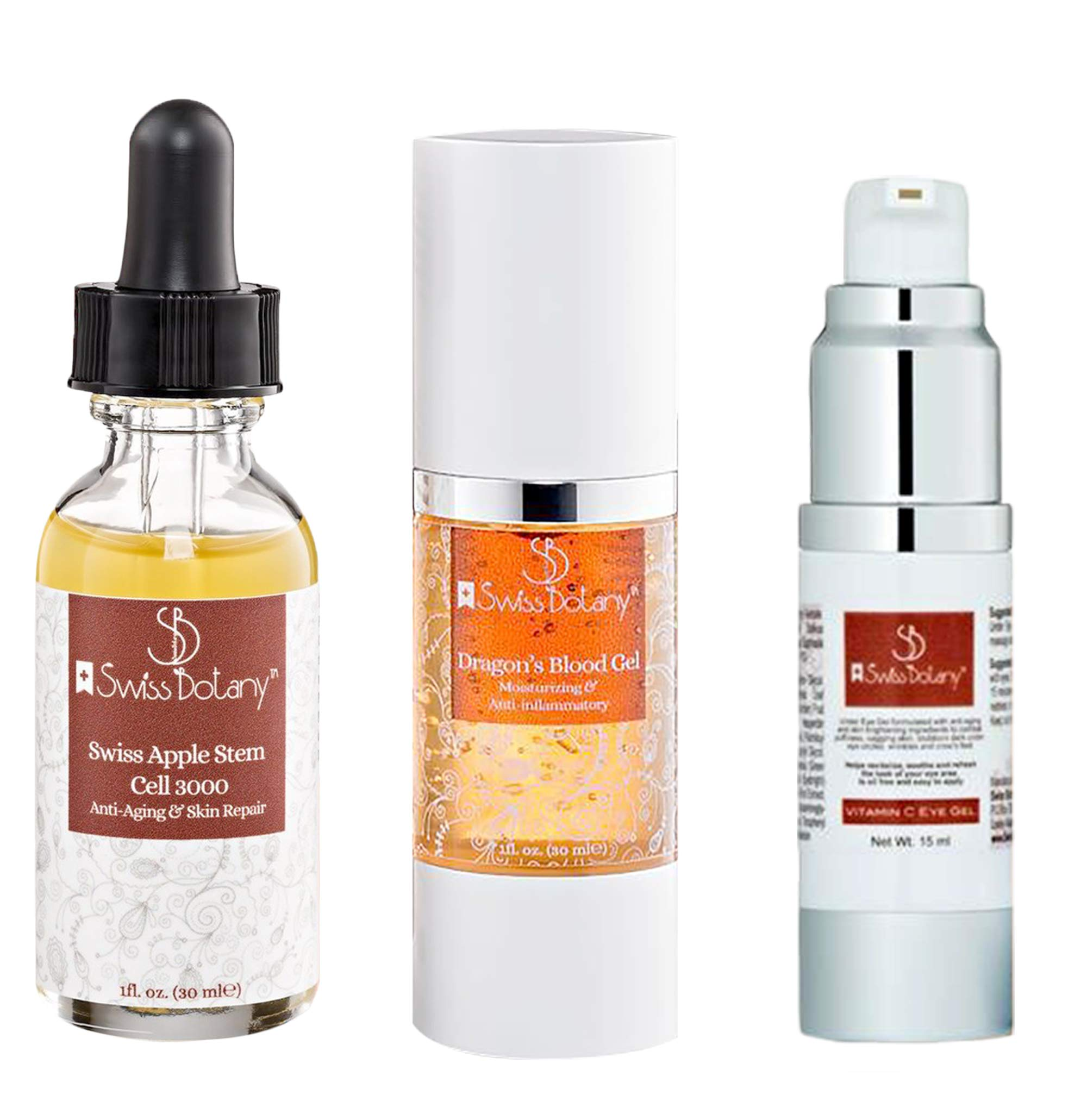 Dragons Blood 3 in 1 Eye Wrinkle Treatment - Nature's Botox Alternative, Instantly Tighten & Sculpture Facial contours - eye wrinkle serum - vitamin c complex by Swiss Botany