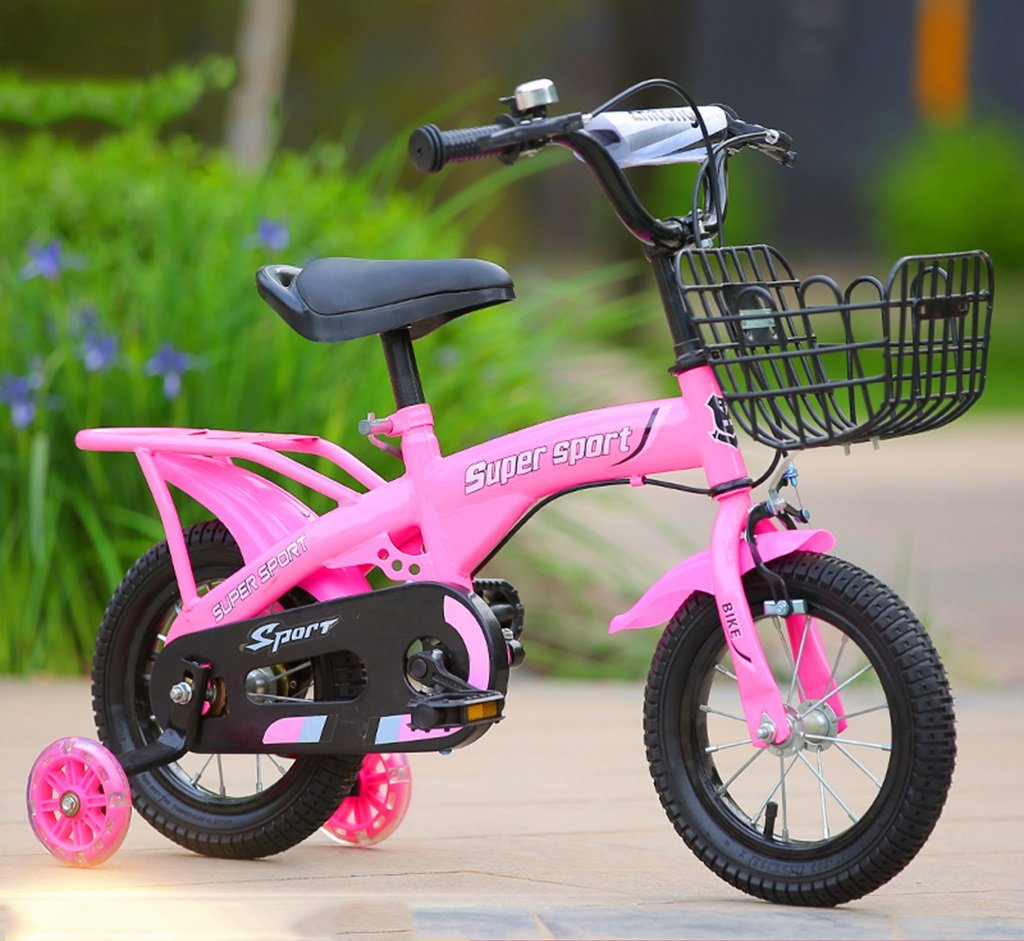 子供用自転車、ピンクオプションのフラッシュアシストホイールリアシートケトル高炭素スチールボディ丈夫で安全な子供用に設計された2-10 88-121CM (色 : D, サイズ さいず : 121CM) B07D5XVT54 121CM|D D 121CM