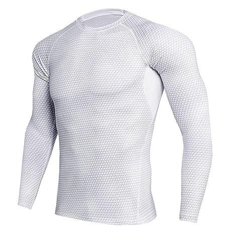 Camisa de Manga Larga para Hombre Camiseta de Running para Hombre ...
