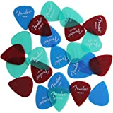 Fender Guitar Pick Sampler - 24 Assorted California Clear