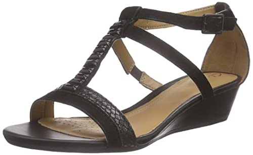 8e137641c4d1 Clarks Women s Playful Fox Open Toe Sandals Black Size  4