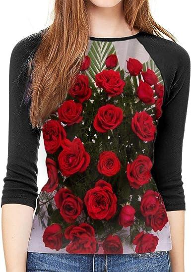 Paris Vintage Floral Fascinating T-Shirt Womens 3//4 Sleeve T-Shirt Raglan Sleeve