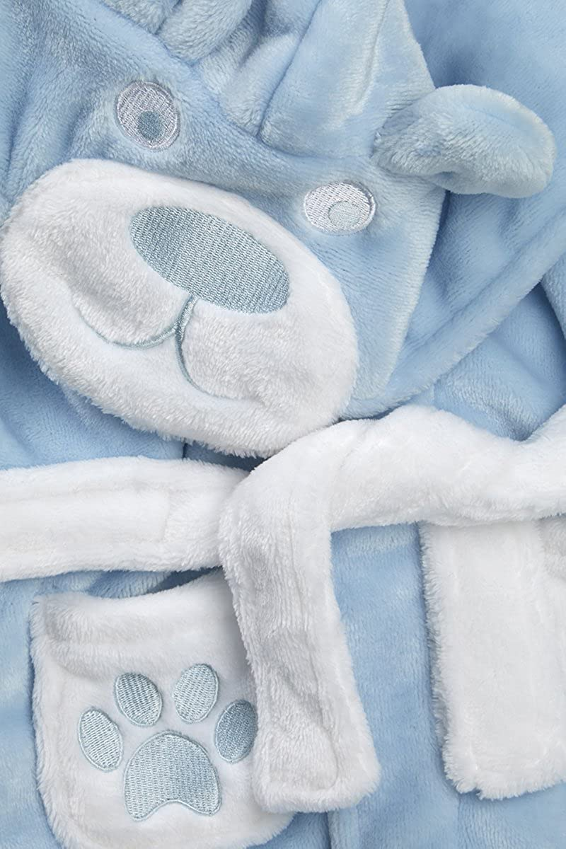 BABYTOWN Baby Boys Soft Teddy Bear Plush Dressing Robe
