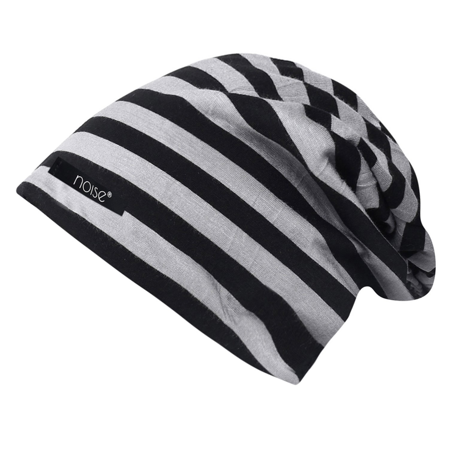 39871d86bbf Noise NOICAP-BLK-GRY-STRIPED Striped Polyester Beanie