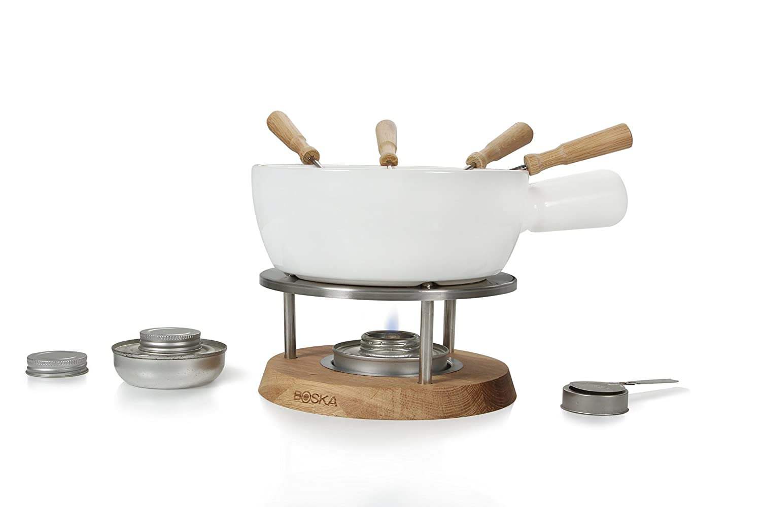 Boska Fondue Set Bianco with Fondue Burners Boska Holland