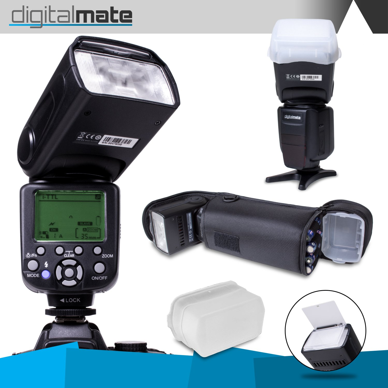 digitalmate dm680ex e-ttl専用フラッシュwith 18 – 180電源ズーム、バウンス&スイベル(ブラック)   B010MABCVI