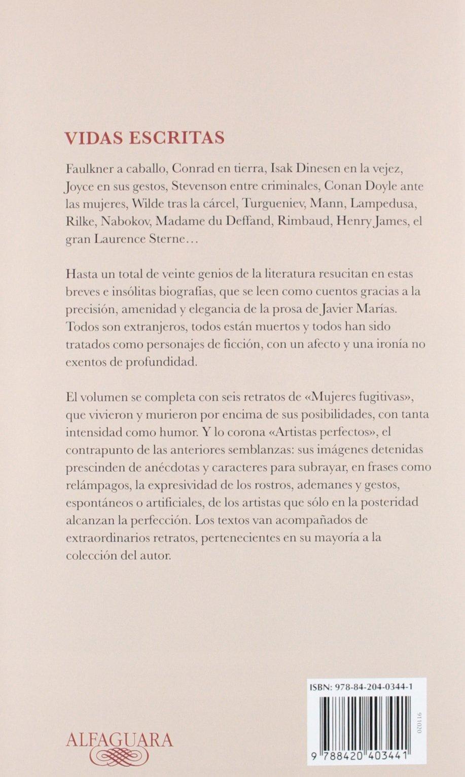 Vidas escritas (FUERA COLECCION ALFAGUARA ADULTOS): Amazon.es: Javier Marías: Libros