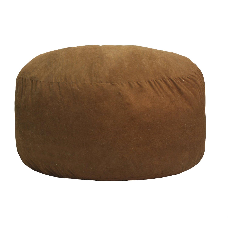 Gold Medal Bean Bags Comfort Cloud Foam Bean Bag, 4', Cocoa