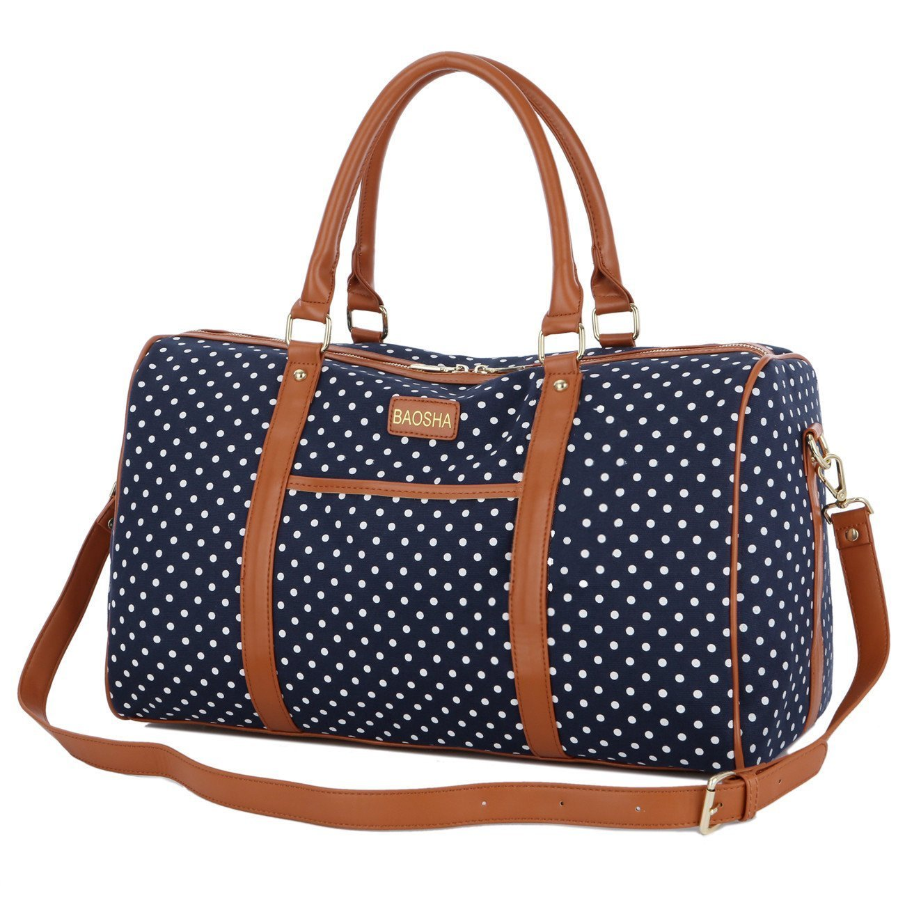 d3739e137c8 BAOSHA HB-25 Cute Lady Women Canvas Travel Bag Weekender Overnight Bag Carry -on