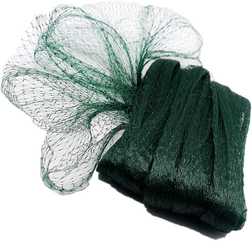 POYEE Garden Netting for Bird Green Net Provide Better Protection for Vegetables and Fruit Trees (13FT X 50FT, 0.4 X 0.4 Inch Mesh)