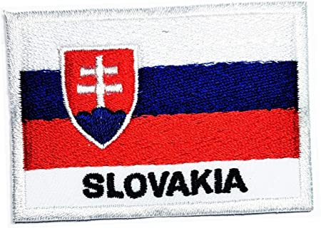 Slovakia National Flag With Name Embroidered Iron On Patch Sew On Badge Applique