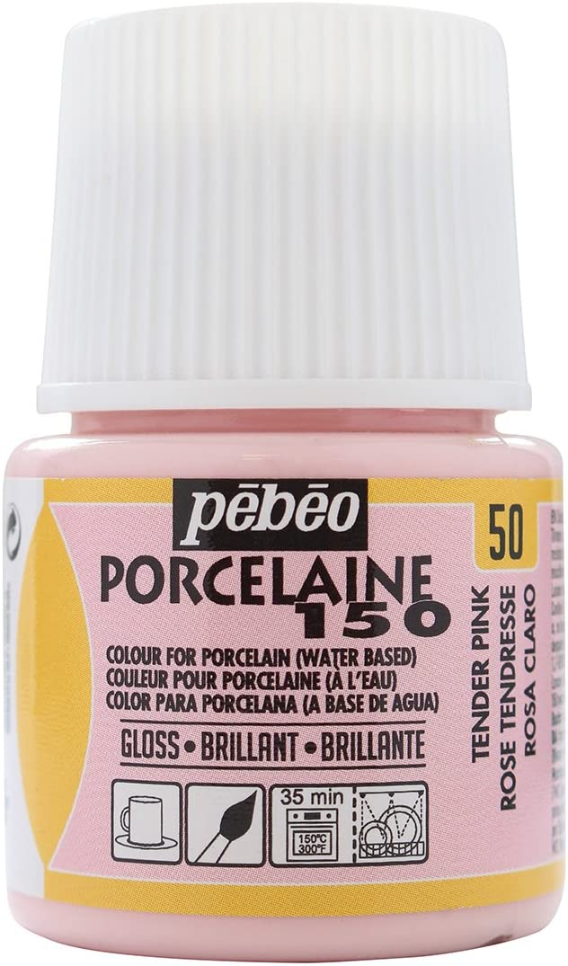 Pebeo Porcelaine 150, China Paint, 45 ml Bottle - Tender Pink
