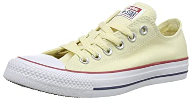 9b74aec14c Converse Unisex Chuck Taylor All Star Low Top Natural White Sneakers - 8.5  B(M