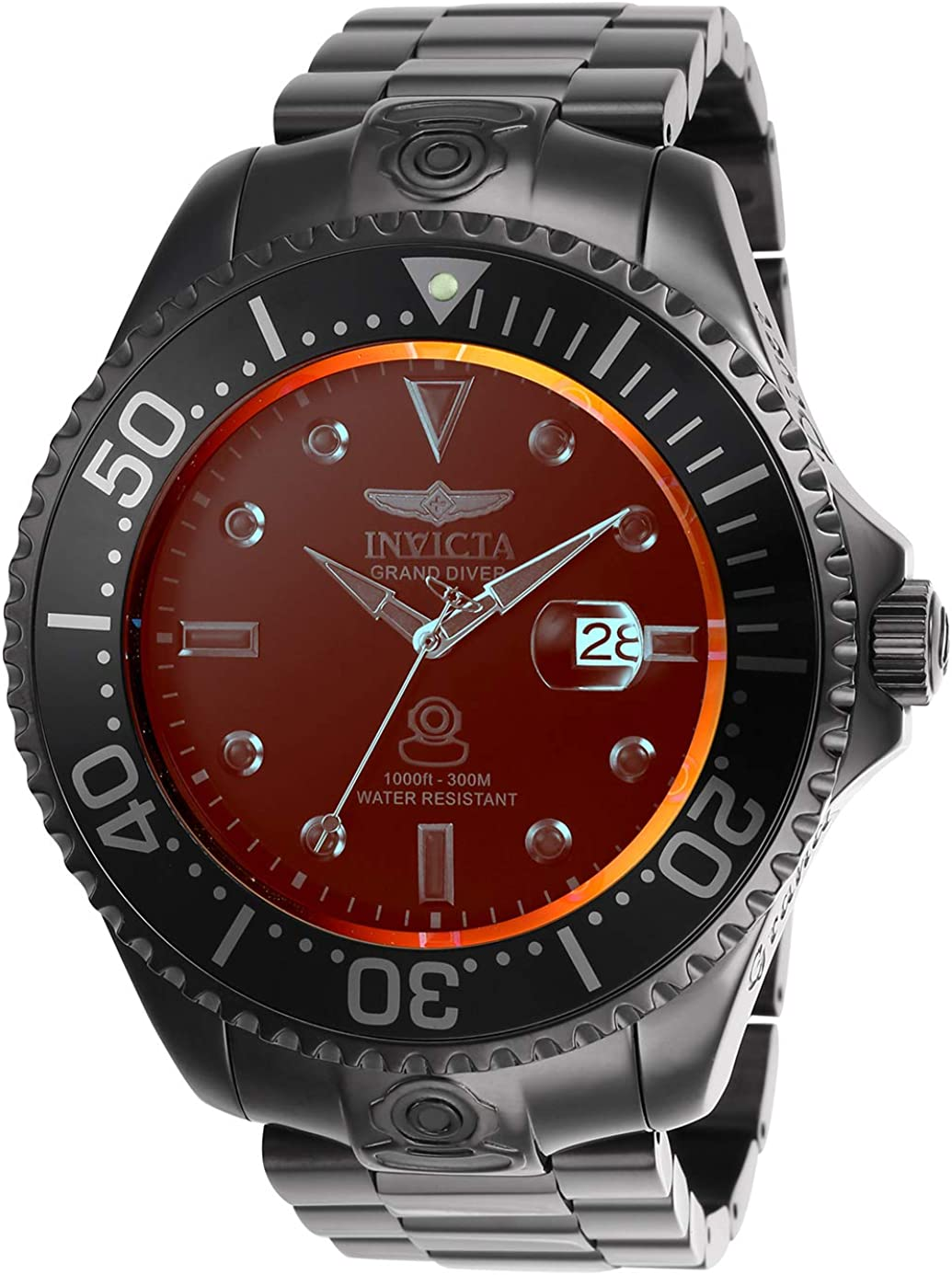 Invicta Men s Pro Diver Automatic-self-Wind Diving Watch with Stainless-Steel Strap, Black, 26 Model 26330