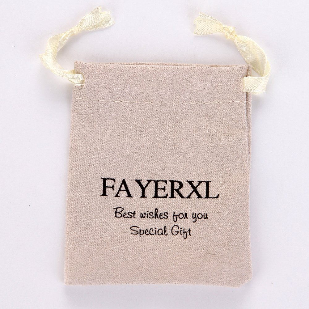 FAYERXL Daughter Son Gifts Ideas from Mom Dad Dog Tag Necklace Christmas Birthday Graduation Gift