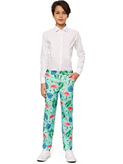OppoSuits Boys Fun Christmas Suits for Teen Aged 10-16 Years-Full Set Jacket Pants and Tie