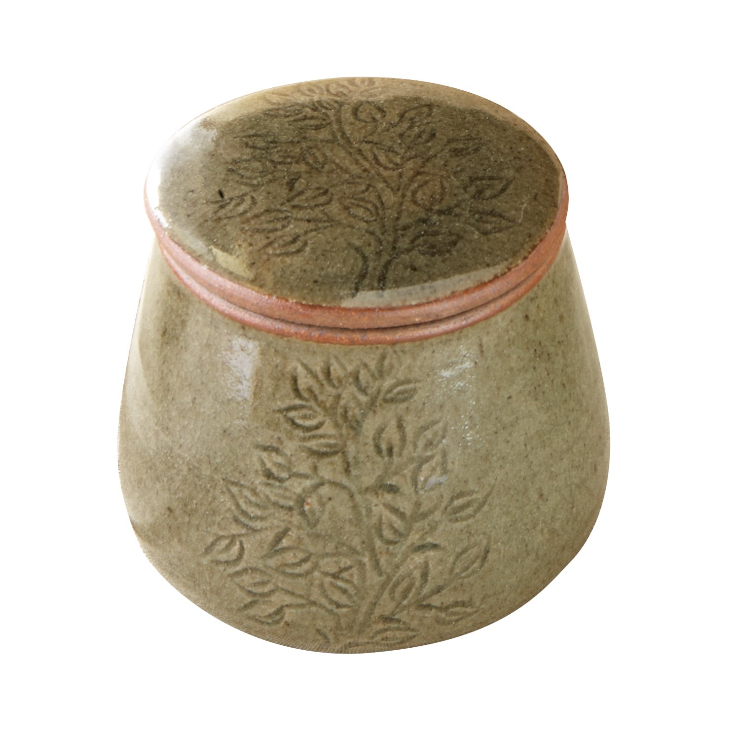Ceramic Butter Keeper 'Cambodian Butter Crock'