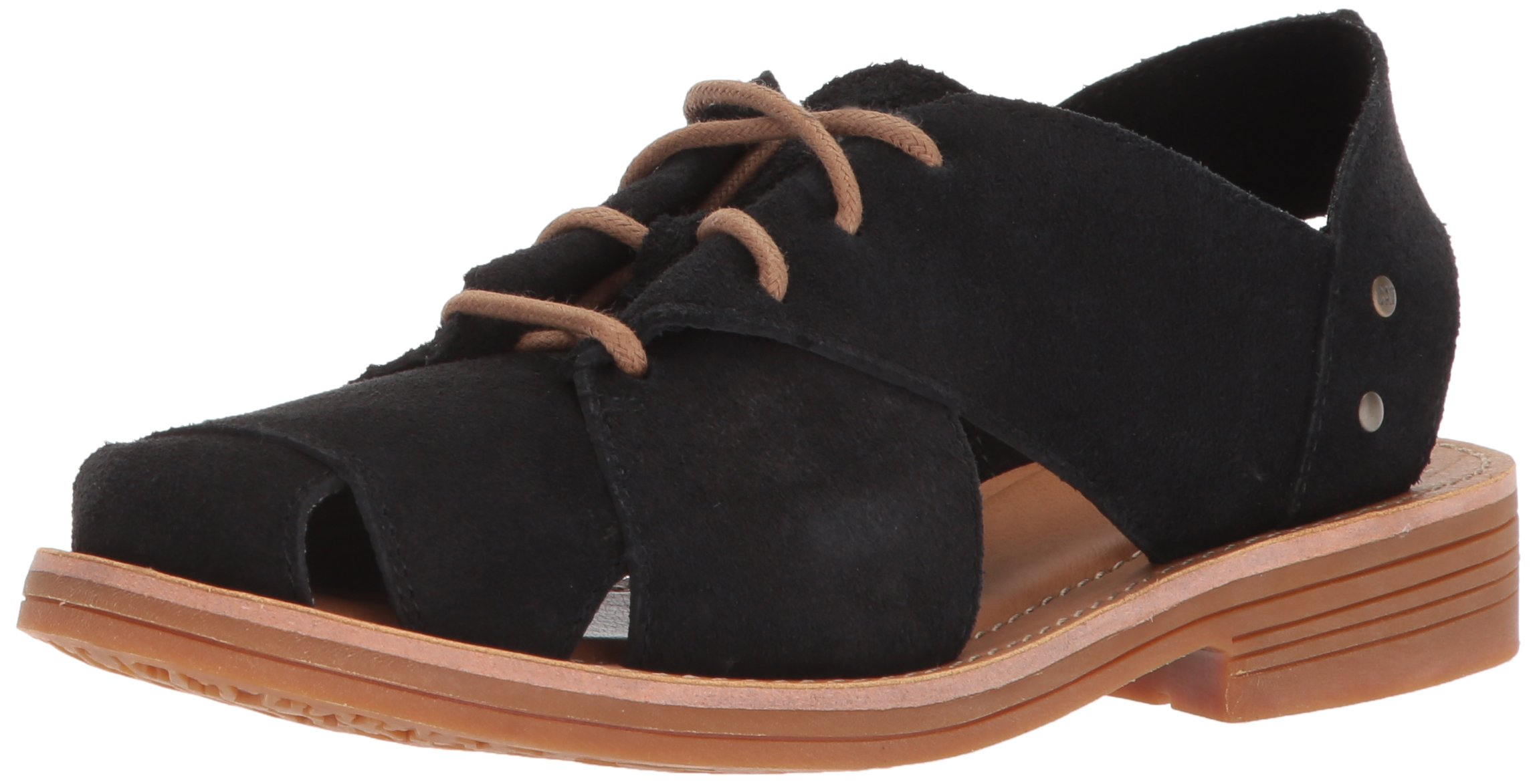 Caterpillar Women's Maren Unconstructed Leather Lace up Shoe With Cutouts Oxford, Black, 9.5 Medium US