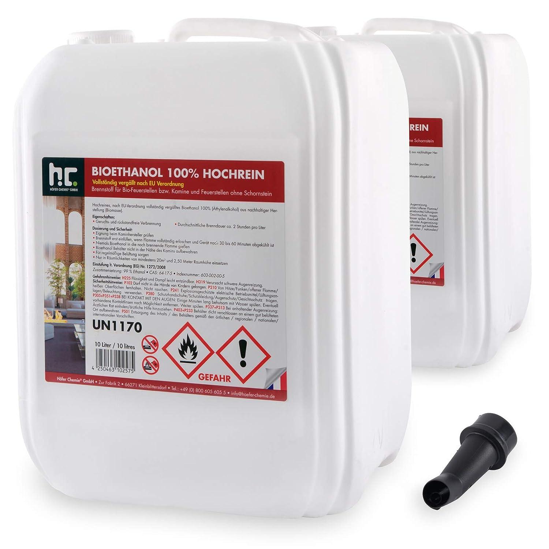 12 x 5 L bio/éthanol premium 100/% pour chemin/ée bidons de 5 L FRAIS DE PORT OFFERT