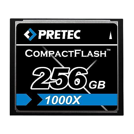 256 GB Pretec Compact Flash tarjeta, alta velocidad 1000 x ...
