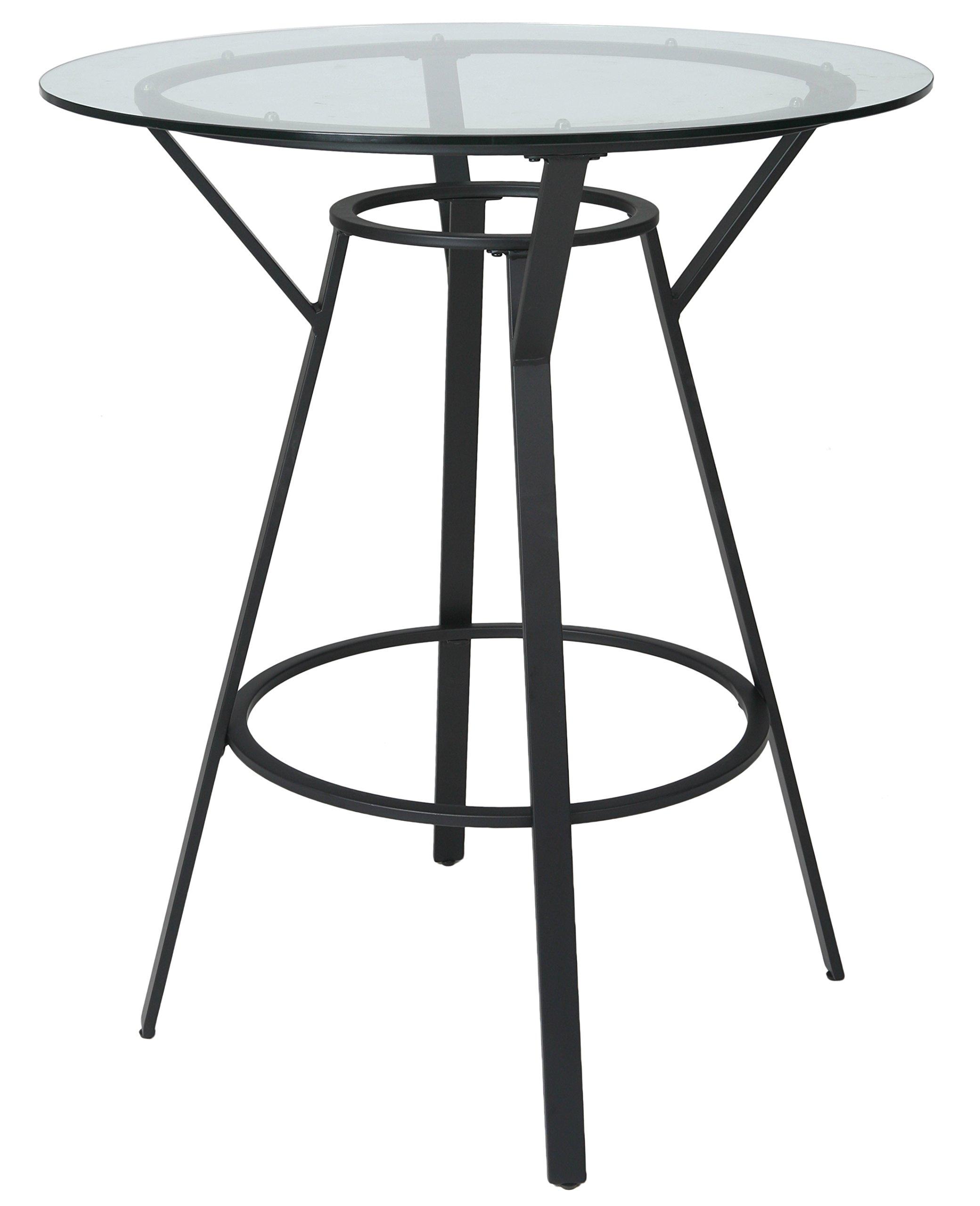 Impacterra QLLL520043618 La Lonja Bar Table, 40'', Satin Black
