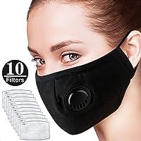 XINdream Máscaras Antipolvo para contaminación de Aire con respirador, una máscara + 6 filtros de Grado Militar N95 Activado por Carbono, Antipolvo, Boca Cubierta, respirador Reutilizable cómodo