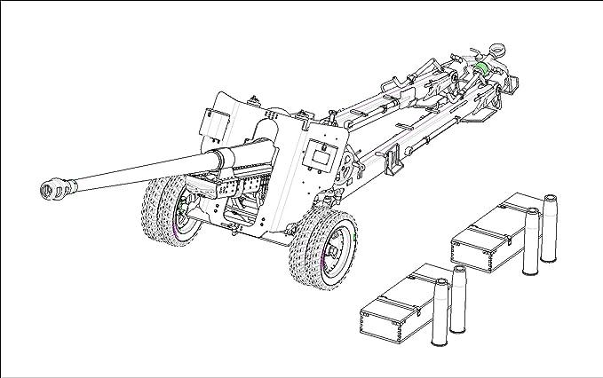 Amazon Com Trumpeter Russian 100mm Anti Tank Gun M1944bs 3 Toys