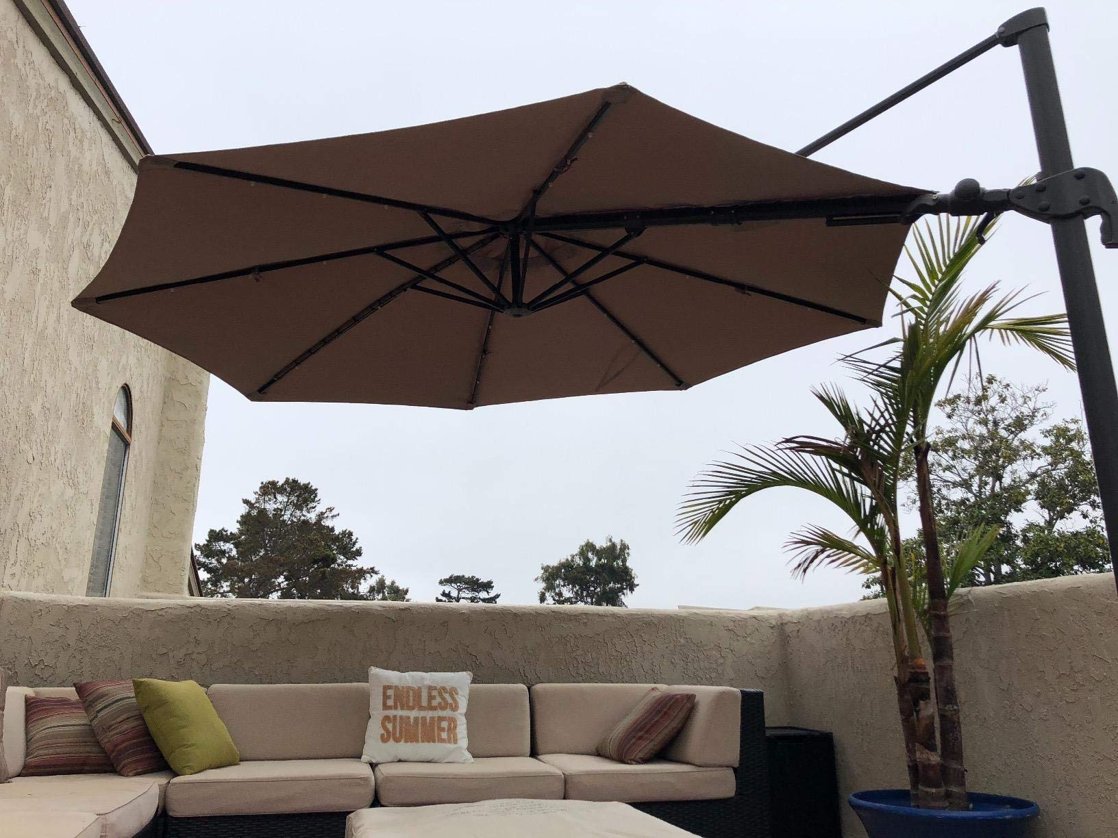 Formosa Covers Replacement Umbrella Canopy for 11ft 8 Rib Supported bar Cantilever Market Outdoor Patio Shades in Taupe Ribs Length 64'' to 66'' (Canopy Only) by Formosa Covers (Image #6)