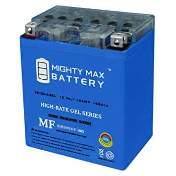 12V 2Amp Charger Mighty Max YTX14AH GEL Battery Replaces Honda Quad ATV