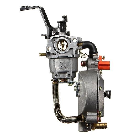 Alamor Carburador Dual Del Combustible Para El Motor Del Generador ...