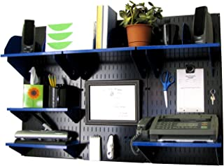 product image for Wall Control Office Wall Mount Desk Storage and Organization Kit, Black/Blue
