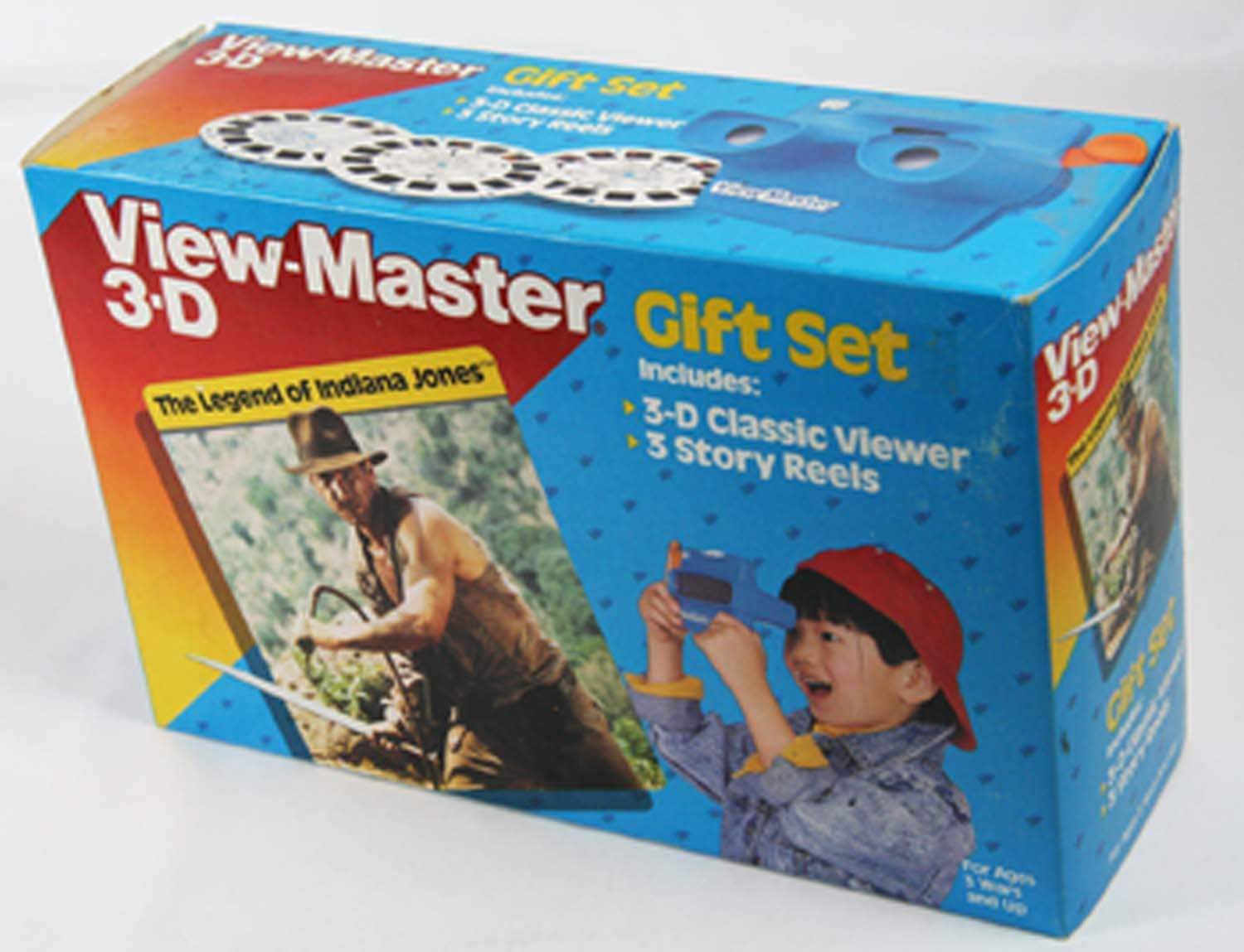 ViewMaster -Legend of Indiana Jones Gift Set - Viewer & 3 Reels - NEW Never Open by 3Dstereo Gift Set (Image #1)