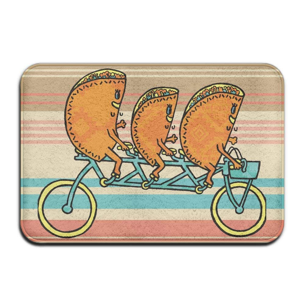 Tacos Riding - Felpudo antideslizante para bicicleta: Amazon.es ...