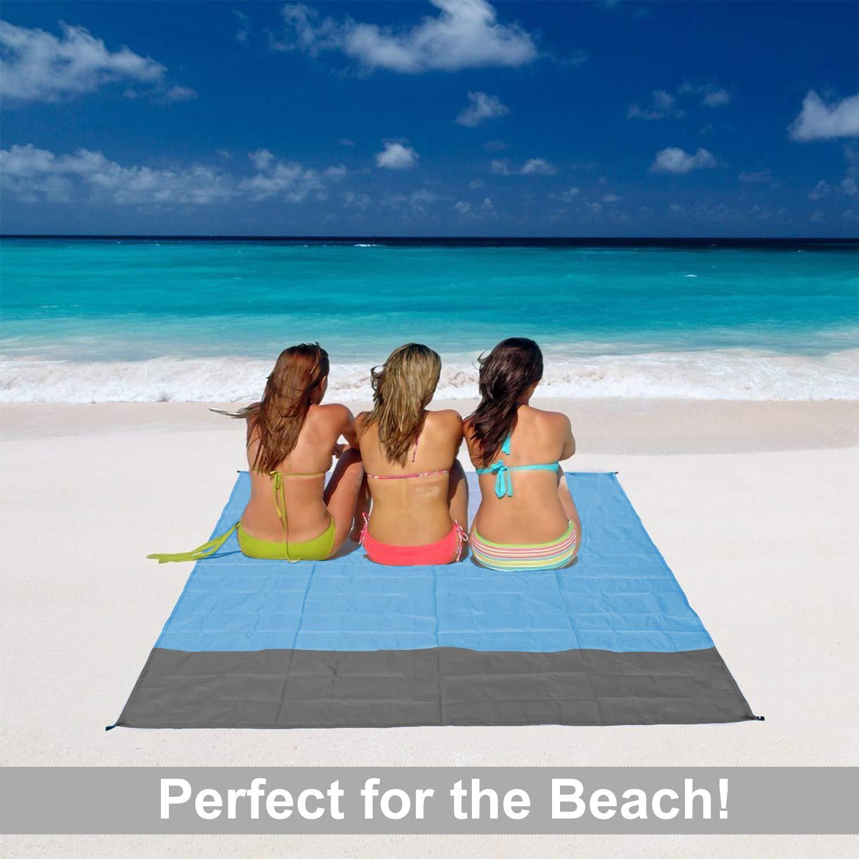 Amazon.com: Manta de playa al aire libre, libre de arena ...