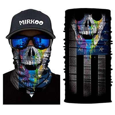 MIRKOO Breathable Seamless Tube Face Mask, Dust-proof Windproof UV Protection Motorcycle Bicycle ATV Face Mask Cycling Hiking Camping Climbing Fishing Hunting Motorcycling (MK-853): Automotive