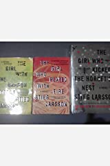 Stieg Larsson's 3 Book Set (The Girl with the Dragon Tattoo/the Girl Who Played with Fire, the Girl Who Kicked the Hornet's Nest) Paperback