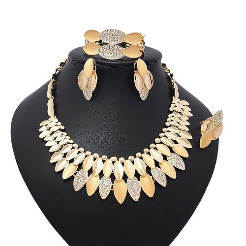 6e71d3e94fd90 Yulaili African Costume Fashion Jewelry Bracelets Necklace Earring ...