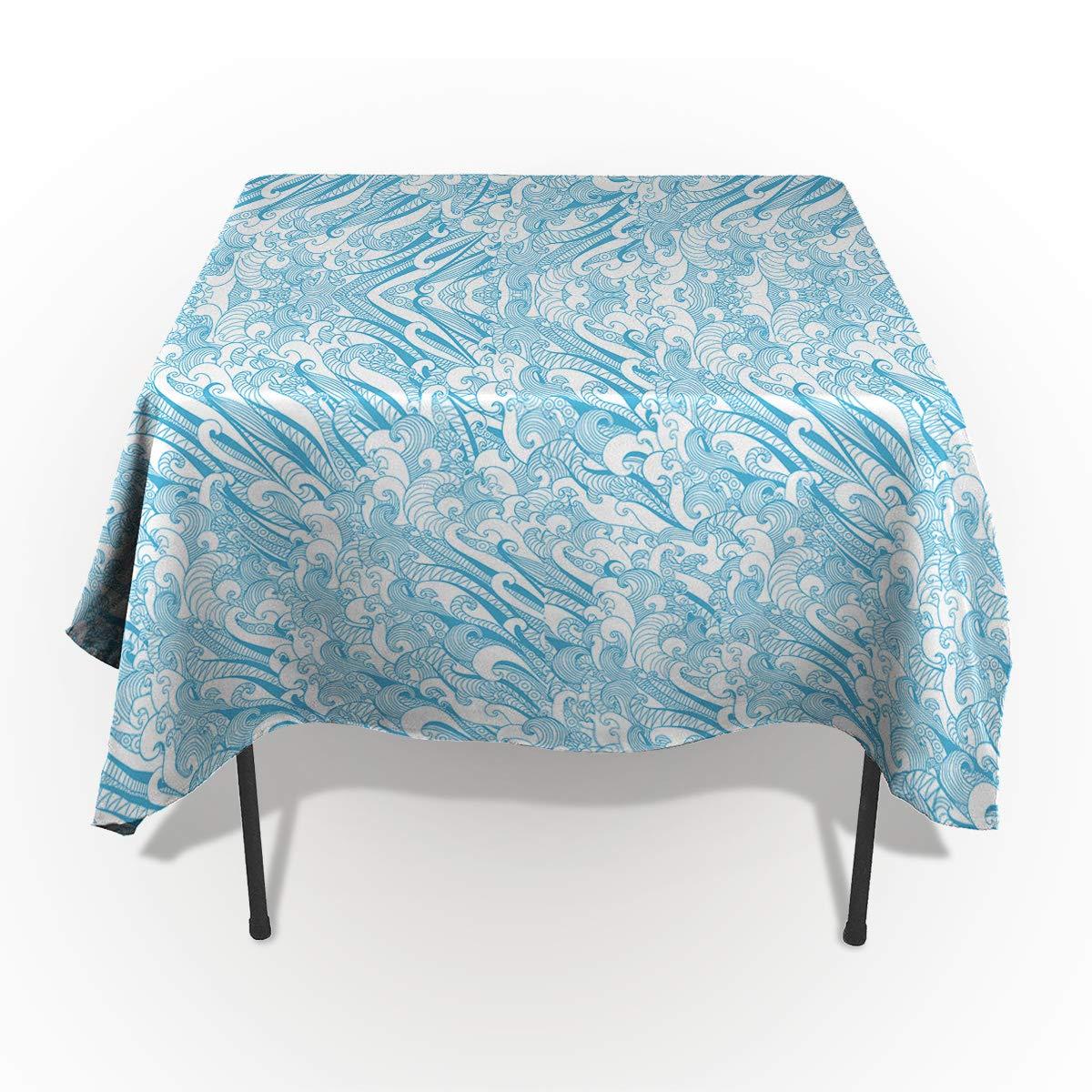 長方形ポリエステルテーブルクロス ミステリアスなビビッドパレス 花柄テーブルクロス 洗濯機洗い可能 テーブルカバー 装飾テーブルクロス キッチン ダイニング 宴会 パーティー 60
