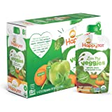 Happy Tot Organic Stage 4 Baby Food, Love My Veggies, Spinach, Apple, Sweet Potato & Kiwi, 4.22 Ounce (Pack of 16)