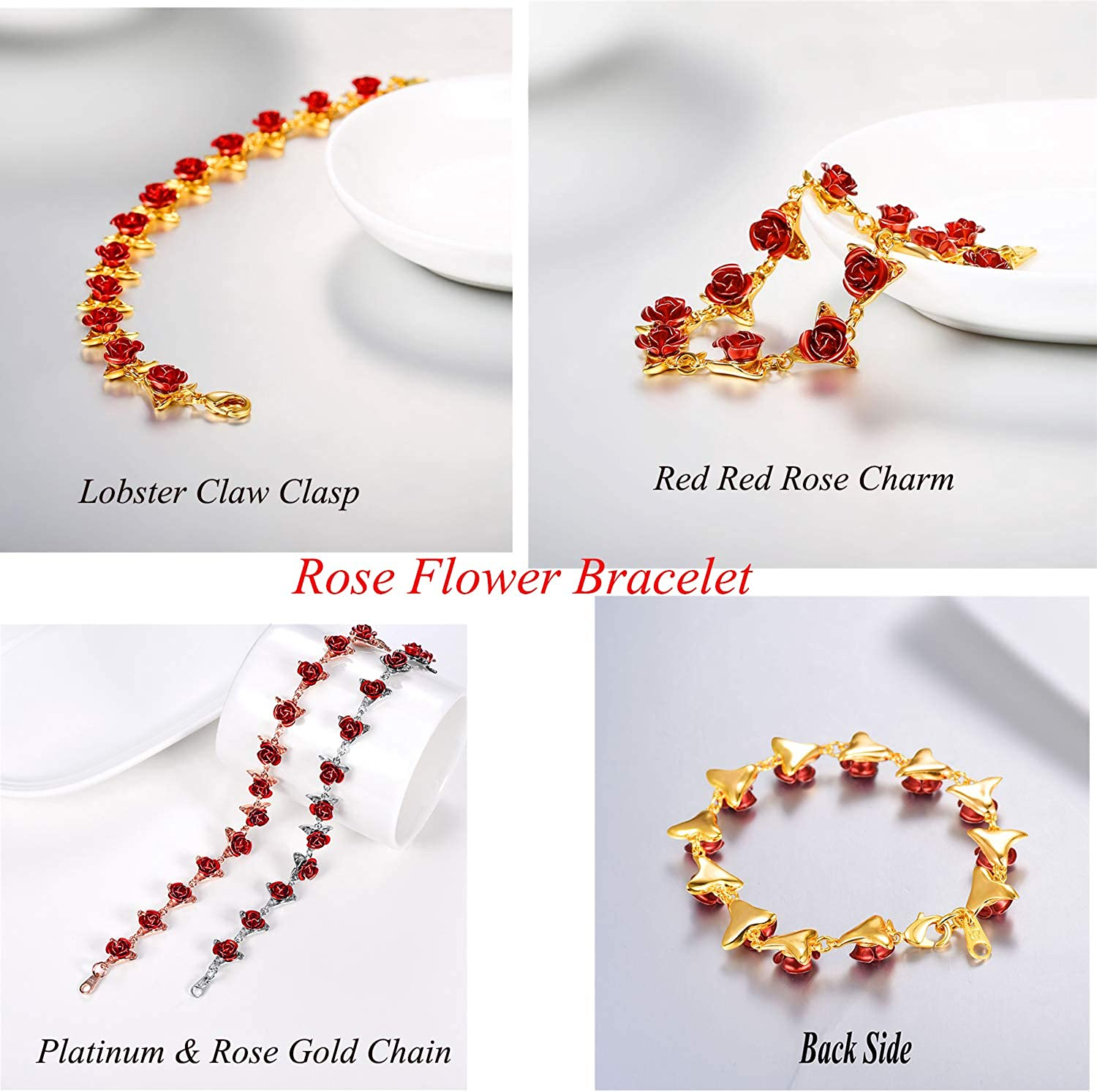 Red Copper ~ 40 Flower Charms