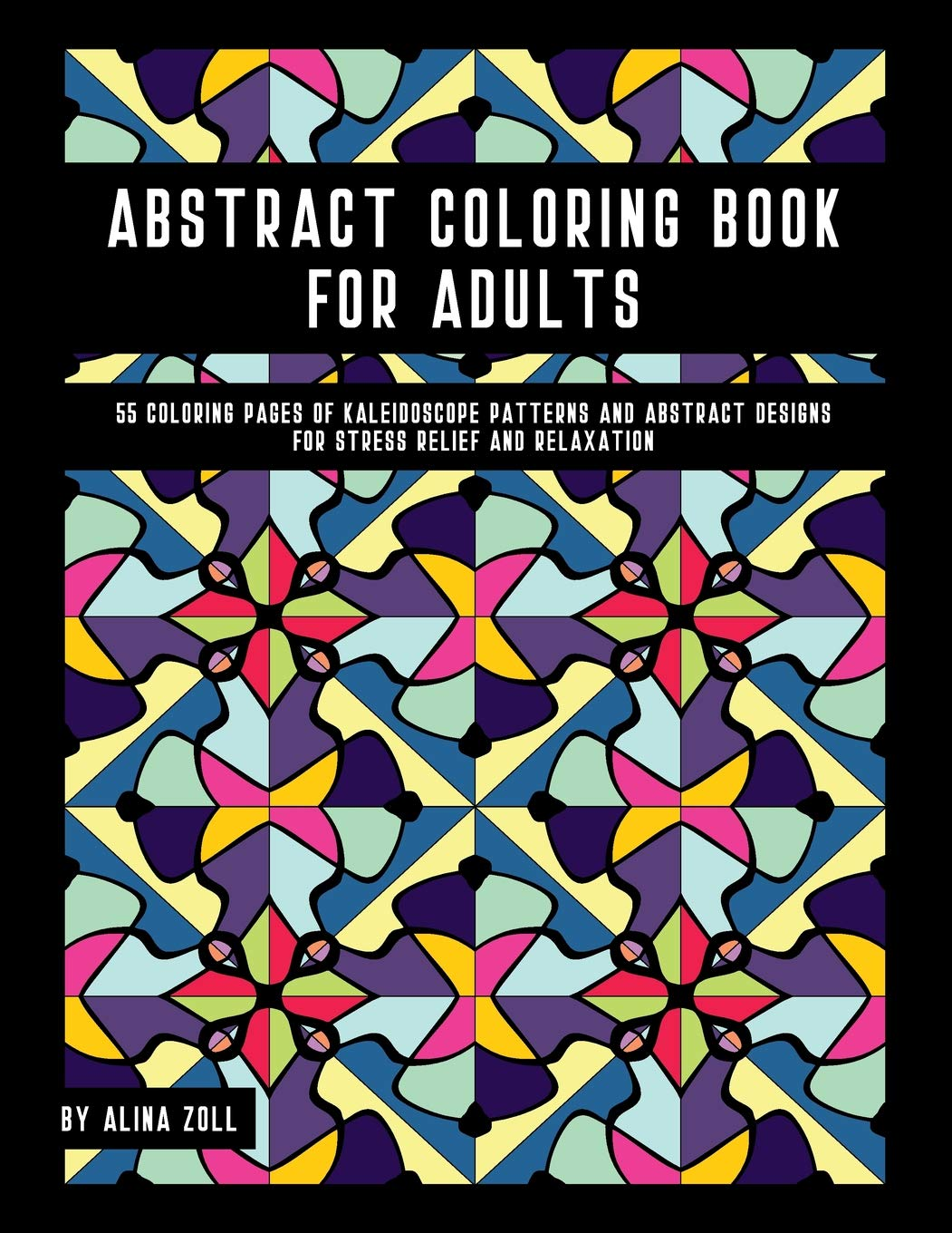 Amazon.com: Abstract Coloring Book For Adults: 55 Coloring Pages