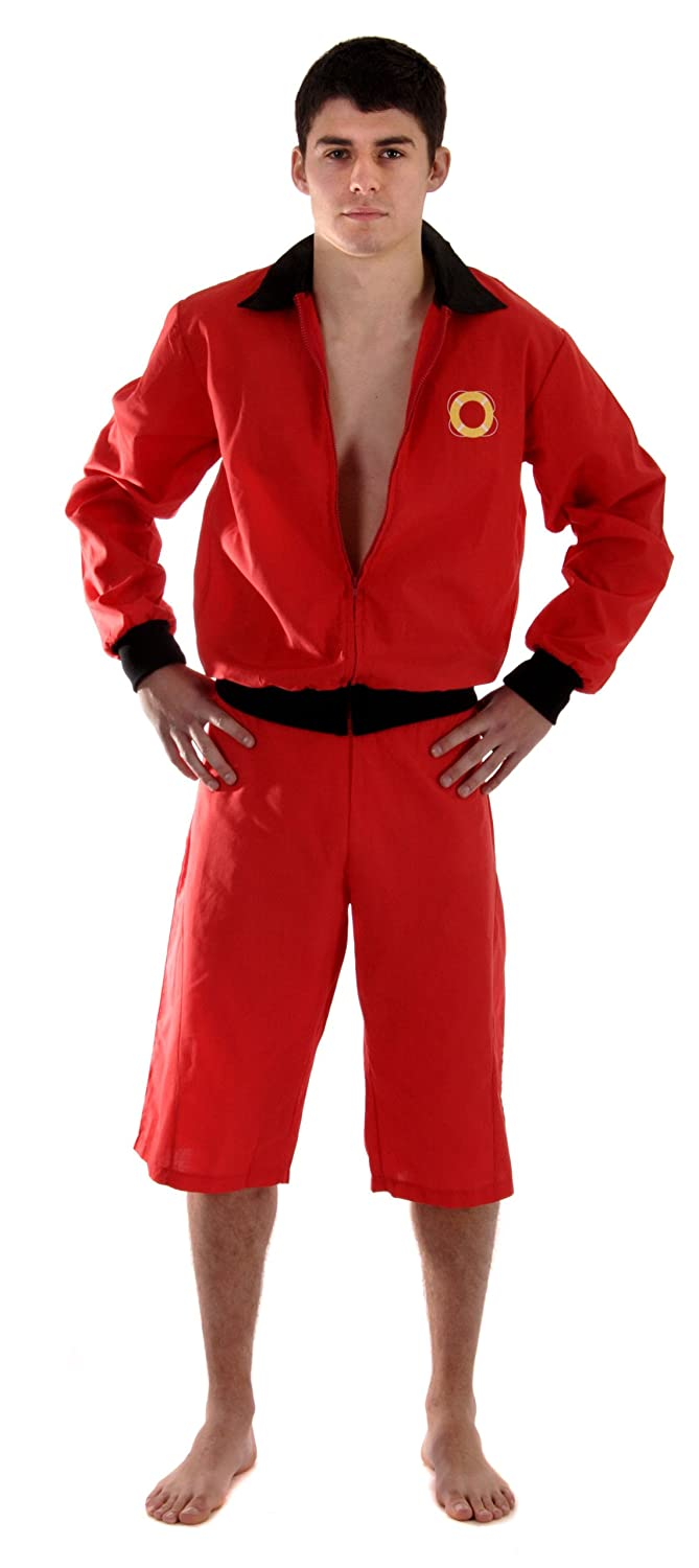 40eb4113e507 Men s Lifeguard Fancy Dress Outfit Life Guard Jacket Shorts U36099   Amazon.co.uk  Toys   Games