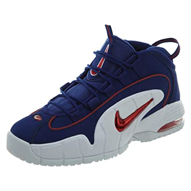 the latest cd3d7 4cff2 NIKE Men s Air Max Penny Red and Blue Leather Sneaker 41(EU)-8