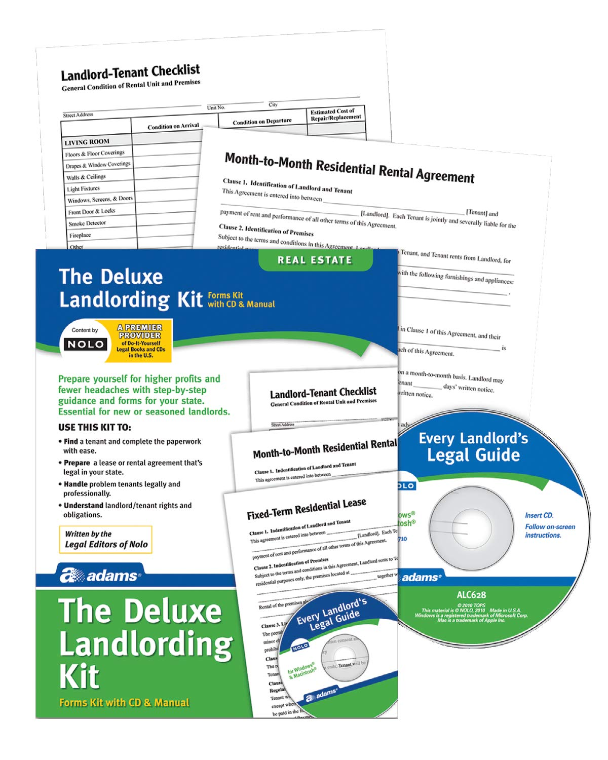 Adams Landlording Kit Forms And Instructions Includes Cd Pk213